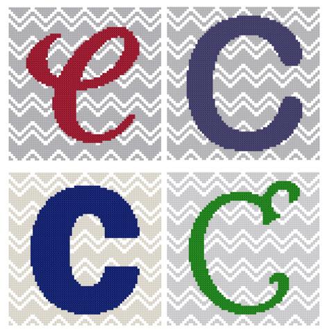 Chevron Monogram Pattern Set C