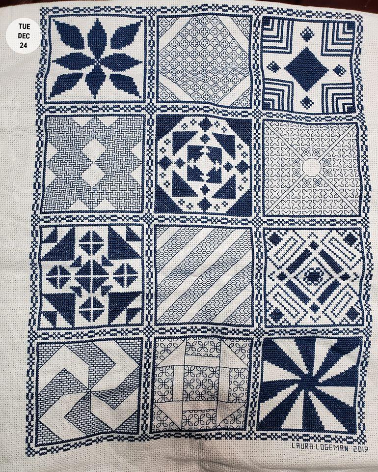 Stitching the Night Away 2019 Stitchalong Finished Project Stitched by Laura Logeman