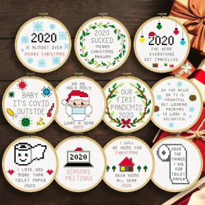 2020 Christmas Ornaments Cross Stitch Pattern Set from 365DaysofDana
