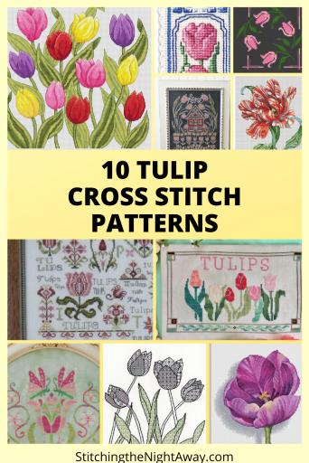 10 Tulip Cross Stitch Patterns