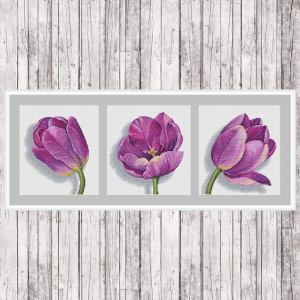 Watercolor Tulips Cross Stitch Pattern Set from Green Terrace on Etsy