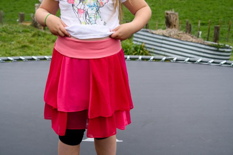 A Garment A Week - Week 35 - A layered chiffon pieced skirt with a wide knit waistband - stitchremedy.com