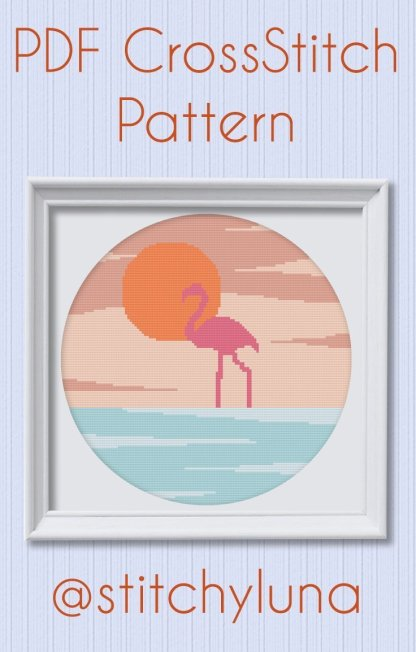 Flamingo-Cross-Stitch