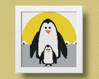 Penguin Free Cross Stitch Pattern (2)