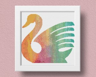 Swan Modern Cross Stitch Pattern