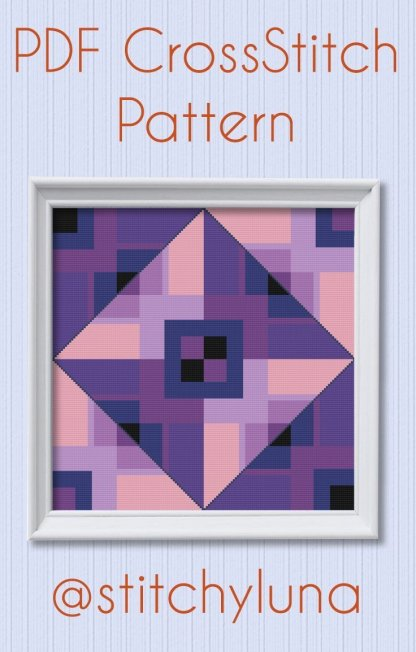 Ultra-violet-cross-stitch-pattern