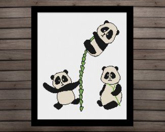 bamboo-panda-nursery cross stitch pattern