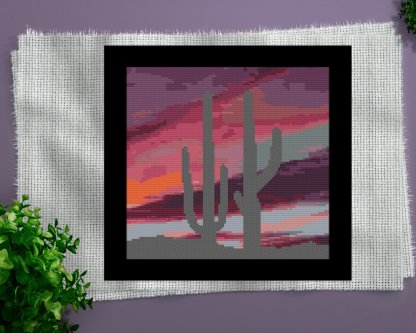 desert-scene-etsy Cross Stitch Pattern