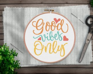 good-vibes-cross sttich pattern