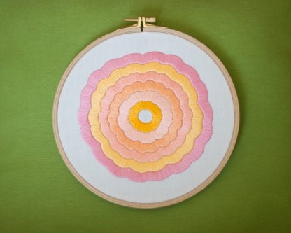 mandala flower embroidery