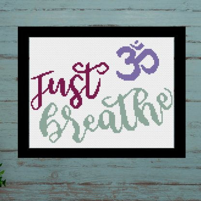 just-breathe-inst-yoga lover cross stitch pattern