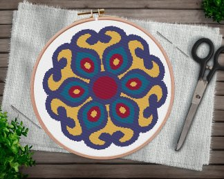 ornament-2-mandala cross stitch pattern