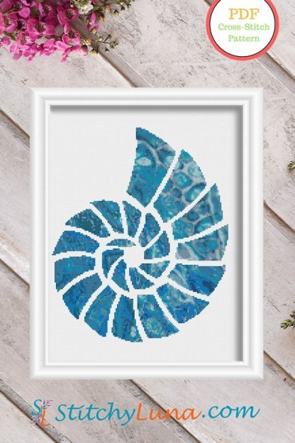seashell 2-pdf-nautical-cross-stitch-pattern