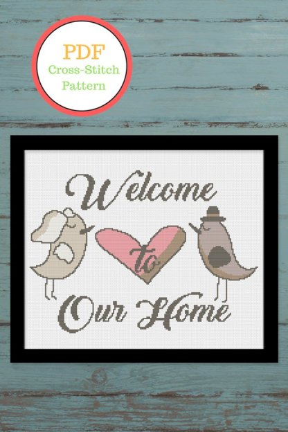 house warming gift cross stitch pattern
