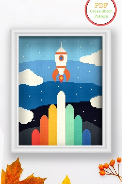 Rocket-pdf-cross-stitch-pattern