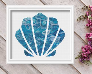 seashell 32-nautical-cross-stitch-pattern