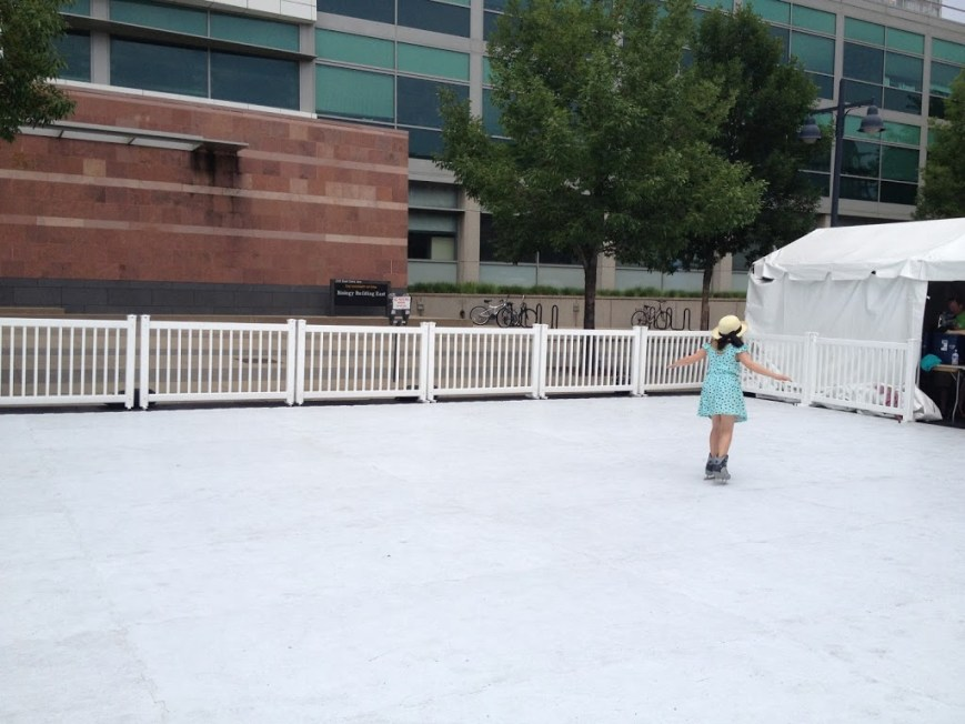 """ice"" skating at the Jazz Festival"