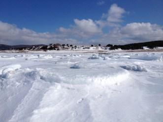 April 8 Margaree beach - sea ice