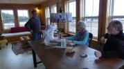 Open Studio Visitors April 17 2015 Margaree Harbour NS