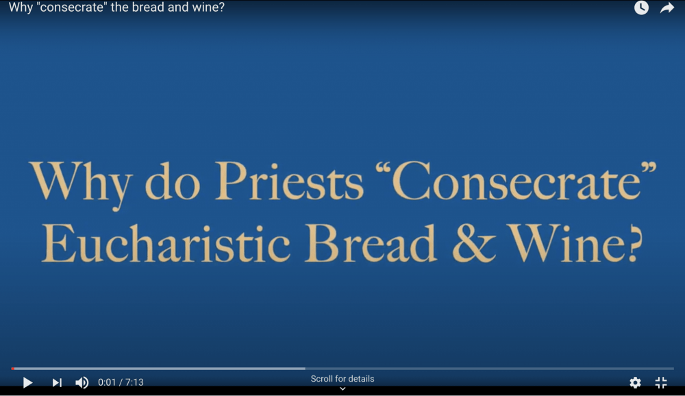 What is Consecration? Image