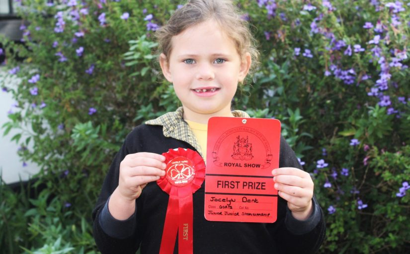 Jocelyn gets First Prize at the Royal Show!
