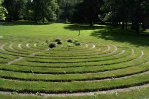 Spiral walking path on the grounds of Sisters of St. Joseph