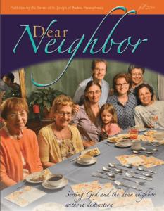Dear Neighbor Fall 2014
