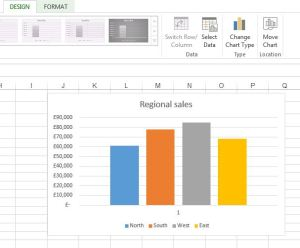 change an Excel chart tyoe