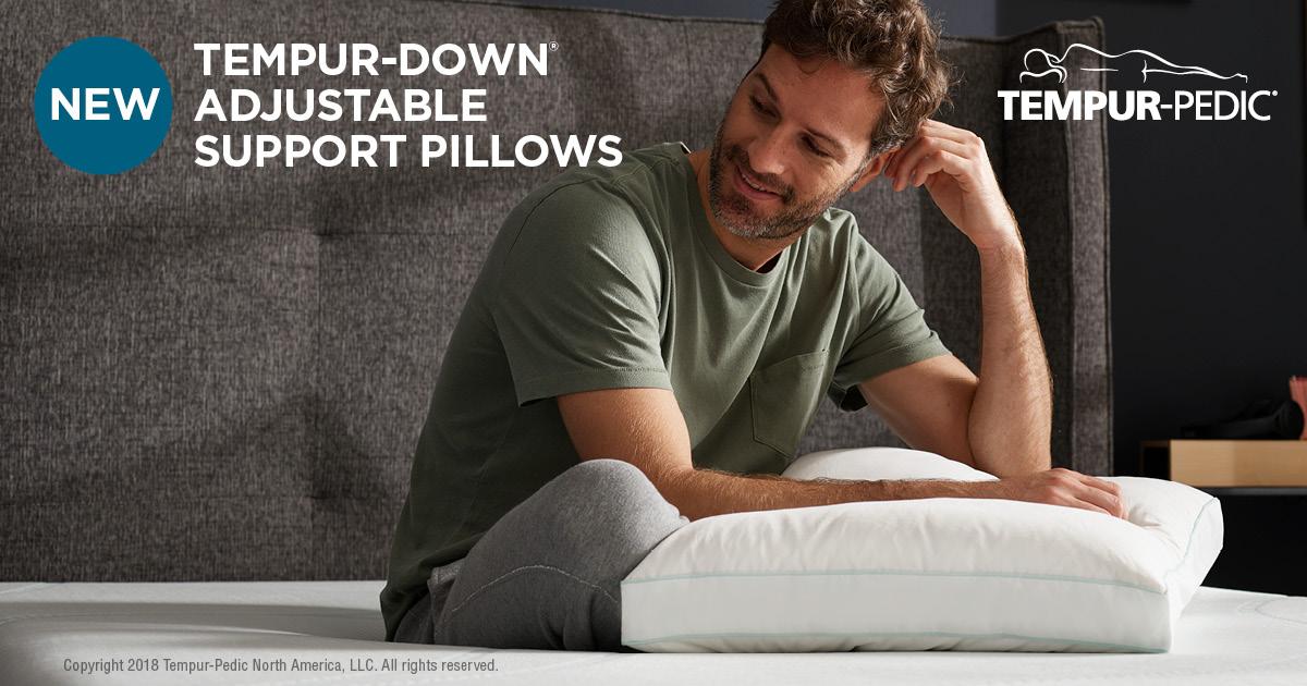 tempur down precise support pillow online