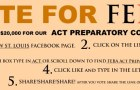 Help FEBA win $20,000 Grant for ACT Preparatory Courses