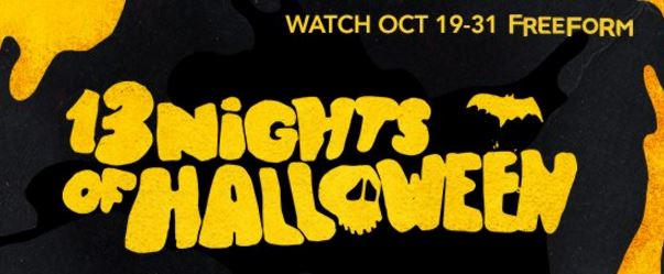 its time to breakout the halloween movies freeform formally abc family is giving us 13 nights of halloween with a great lineup a movies too