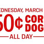 Sonic Drive-In – 50¢ Corn Dogs March 27th