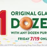 Krispy Kreme – Buy One Dozen Get One For $1 July 19th