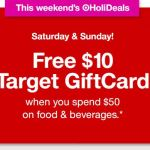 Target – FREE $10 Target Gift Card With Your $50 Food & Beverage Purchase