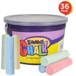 ArtCreativity Jumbo Sidewalk Chalk Set for Kids $15.97