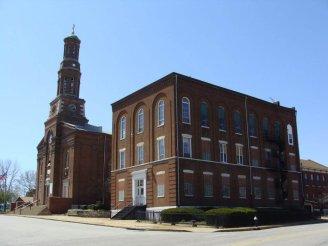St. Vincent de Paul Roman Catholic Church with School, Photo by Chris Naffziger