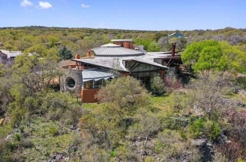 Architectural Gem in Texas Hill Country Designed By Frank Lloyd Wright Apprentice, John Covert Watson