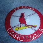 stl cardinals hand painted light shade