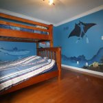 scuba diver mural painting