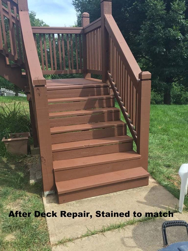 stl deck staining