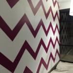 chevron stripe painting