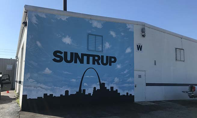 company logo mural