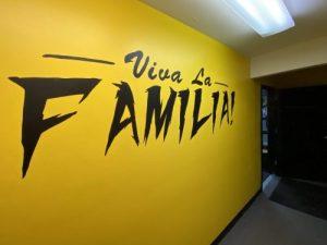 gym wall mural