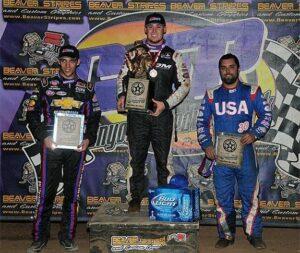 Ryan Bernal, Bryan Clauson & Casey Shuman were the top 3 USAC Sprint Car finishers - Lonnie Wheatley photo