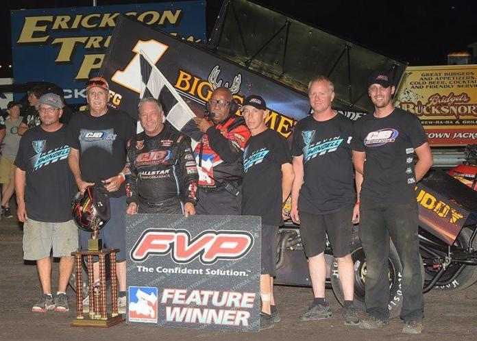 Sammy Swindell claimed $25,000 with his win at the 37th Annual Jackson Nationals (Rob Kocak Photo)