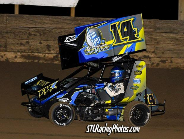 Kurt Westerfield at Belle-Clair Speedway on March 18, 2016.