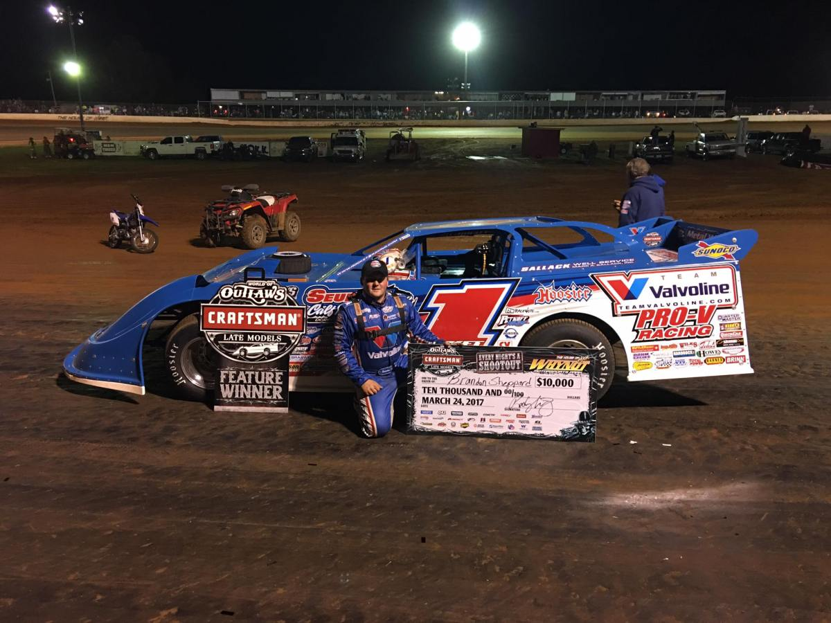 Brandon Sheppard takes Craftsman World of Outlaw Late Model Series win at Whynot Motor Speedway!