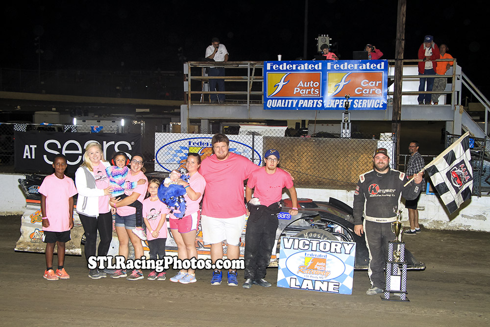 Michael Kloos, Rick Conoyer, Josh Russell, Troy Medley & Dallas Lugge take wins at Federated Auto Parts Raceway at I-55