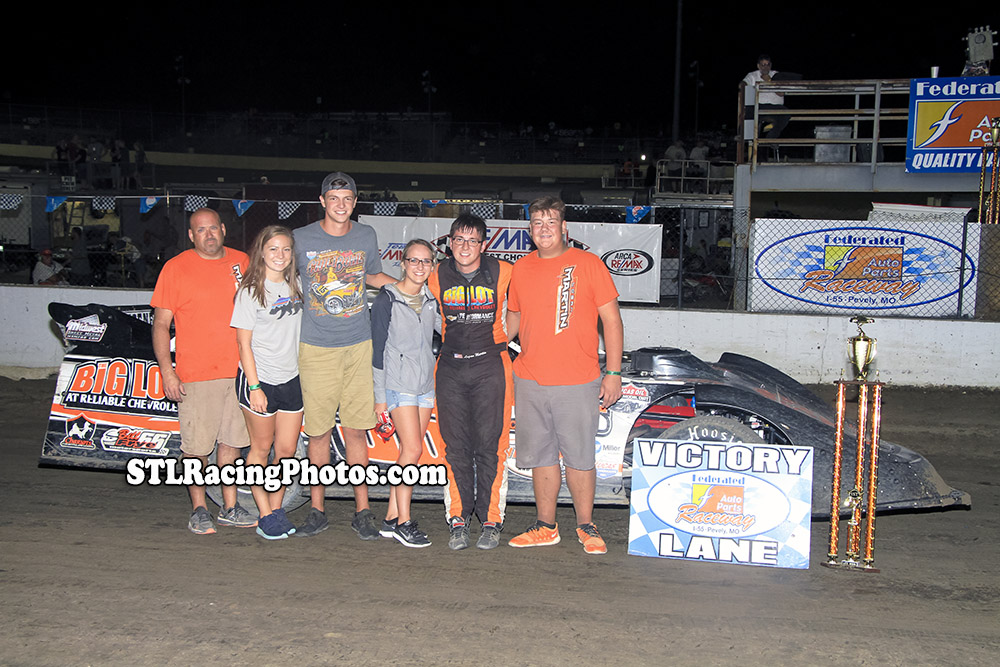 Logan Martin, Rick Stevenson, Tim Hancock, Troy Medley & Dallas Lugge take wins at Federated Auto Parts Raceway at I-55