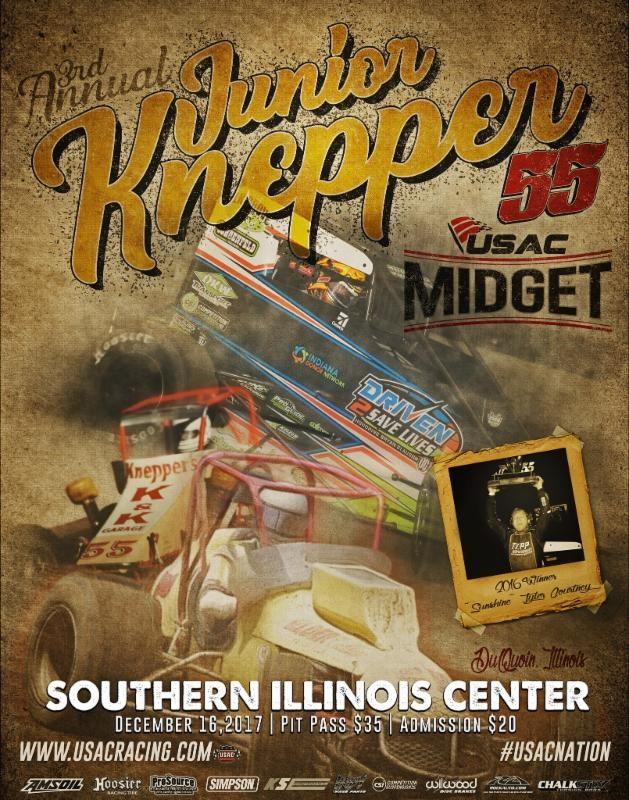 "3RD ANNUAL USAC MIDGET ""JUNIOR KNEPPER 55"" SET FOR DEC. 16 IN Du QUOIN"